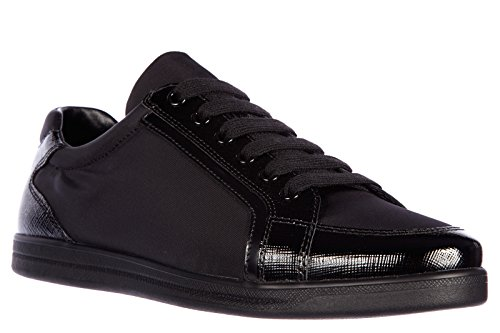 Prada Damesschoenen Sneakers Saffiano Zwart
