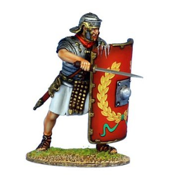 First Legion ROM134 Imperial Roman Legionary with Gladius - Legio I (Imperial Hand Painted Metal)