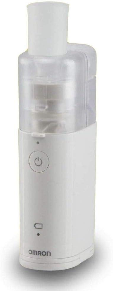 Omron Nebulizador de malla MicroAir U100 portátil, nebulizador de mano eléctrico y silencioso, para la tos, el asma y enfermedades pulmonares obstructivas crónicas en adultos y niños