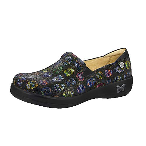 Alegria Keli Womens Slip-On Shoe Sugar Skulls Dottie 8 M ()
