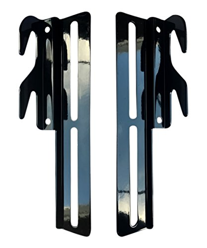 CLAW IT ON #711 Bed Rail Hooks Plate Adapter Conversion Kit Bolt On Bed Headboard or Bed Footboard Frame 2 Pack Comes with NUTS and BOLTS and WASHERS Bed Adapter Conversion Kit adjusts in Height ()