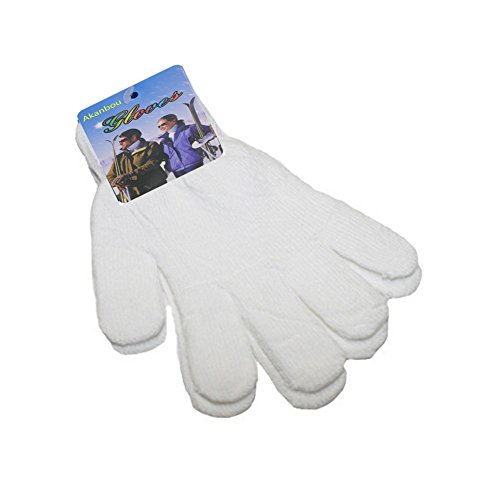 Price comparison product image Akanbou Magic Gloves Stretch Gloves- Fit Teens and Adults (White)