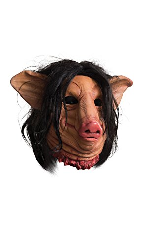 [Rubie's Men's Saw Pig Face Overhead Latex Mask, Multi, One Size] (Saw Movie Costumes)