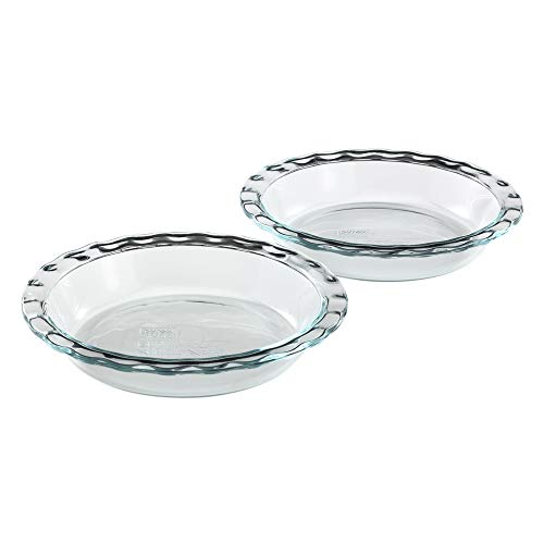 Clear Pyrex Bakeware 9-1//2-Inch Scalloped Pie Plate