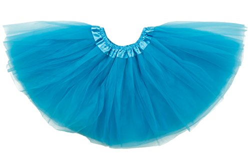 Dancina Tutu Big Girls' Running Skirt and Retro Tulle Dress Up Costume Gift Set 8-13 Years Turquoise