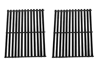 Zljoint Porcelain Steel Centro, Charbroil, Front Avenue, Fiesta, Kenmore, Kirkland, Kmart, Master Chef, and Thermos Gas Grill Cooking Grid/Cooking Grates Replacement, Sold As A Set of 2