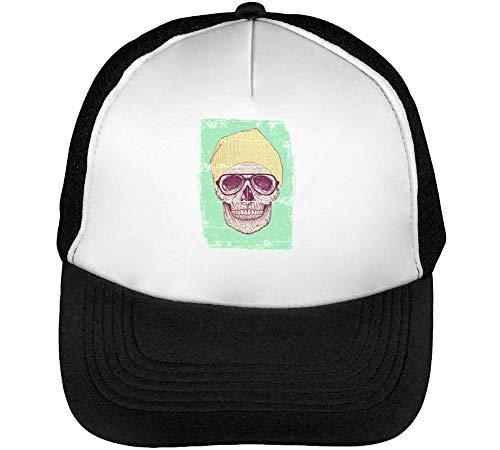 Snapback Gorras Blanco Beisbol Skull Hipster Negro Hombre wAqpv01nxU