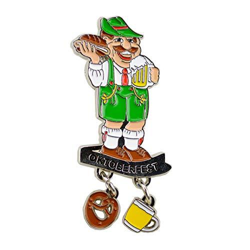 Oktoberfest German Hat Pin by E.H.G | Metal Enamel Man Beer Mug | Oktoberfest Banner