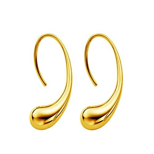 Plated Filigree Wrap (Fheaven Women Wrap Earrings Elegant Fashion 925 Sterling Silver Ear Drop Stud Earrings Jewelry (Gold))
