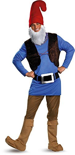 Garden Gnome Costume (Disguise Men's Papa Gnome Costume, Blue/Brown/Red, X-Large)