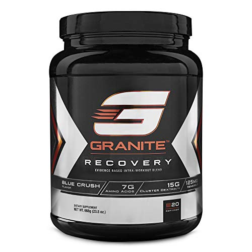 Intra-Workout Powder by Granite Supplements | 20 Servings of Recovery Fruit Blast to Maximize Muscle Growth and Speed Up Recovery | Includes Amino Acids, Cluster Dextrin, and Sensoril Ashwagandha (Best Supplement To Take During Workout)