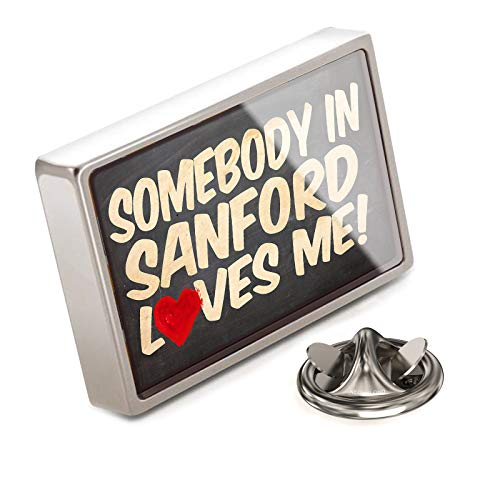 NEONBLOND Lapel Pin Somebody in Sanford Loves me, ()