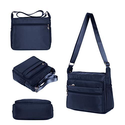 Crossbody Bag for Women Waterproof Shoulder Bag Messenger Bag Casual Canvas Purse Handbag (Small, Navy Blue) by NOTAG (Image #5)