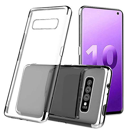 Junshion Protective Phone Cover for Samsung S10 Plus 6.3inch Clear Case Protective TPU Gel Cover Anti Shock Proof Fitted Back Cover