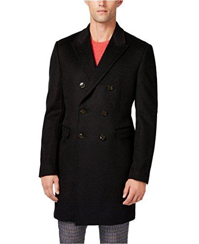 Ralph Lauren Men's LWCV02EC0000 Double-Breasted Wool Blend Overcoat - Black - 46L