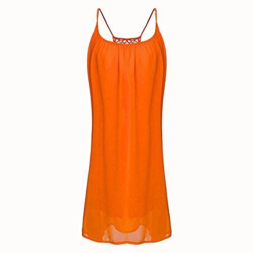 redondo floral cuello Compras color con sin naranja en 365 de de mangas Vestido estampado 01q1UvwAf