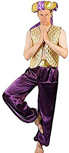 Panto-Fairytale-Pantomime ALADDIN GENIE OF THE LAMP Men's Fancy Dress Costume - From All Men's Sizes (Adult Aladin Costumes)