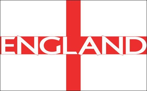 ENGLAND Letters on English Flag Sticker (St. George's Cross) (Flag Sticker St George)