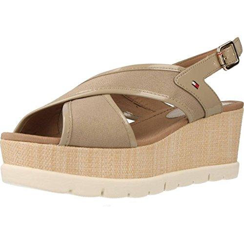 Tommy Hilfiger V1285ENICE 5D, sandalia de mujer Hueso