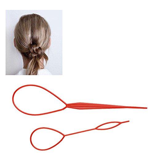 EYX Formula Plastic Magic Topsy Tail Hair Braid Ponytail Styling Maker Clip Tool Black 3 Sets(6 (Braid With Ponytail)