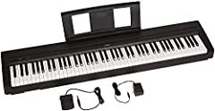 The Yamaha P71B is an Amazon-exclusive model designed to be the perfect home digital piano for rehearsing, learning and creating. A full sized piano keyboard with fully-weighted keys and Yamaha premium piano voices provide the user with the m...