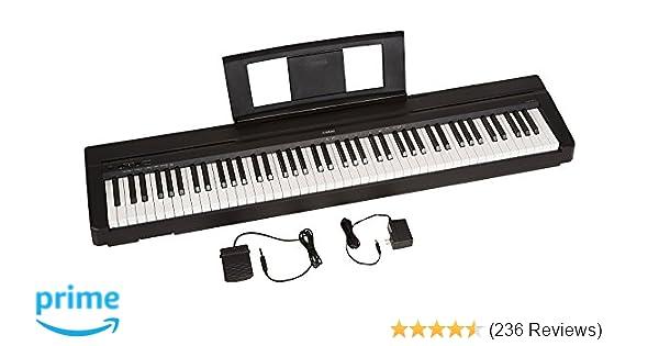 amazon com yamaha p71 88 key weighted action digital piano with rh amazon com Yamaha P85 Yamaha P95 Digital Piano Bundle