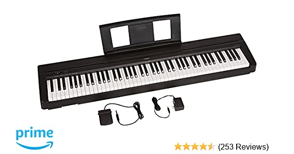 amazon com yamaha p71 88 key weighted action digital piano with rh amazon com yamaha p95 user manual english yamaha p 95 service manual