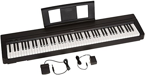 Yamaha P71 88-Key Weighted Action Digital Piano with Sustain Pedal and Power Supply (Amazon-Exclusive) ()