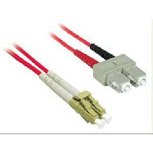 C2G/Cables to Go 37237 LC/SC Duplex 62.5/125 Multimode Fiber Patch Cable (2 Meter, Red)