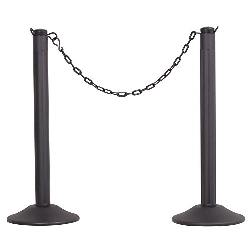 US Weight ChainBoss Indoor/Outdoor Stanchion - Weighted Base - Black Chain