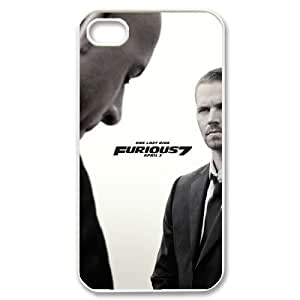 Lycase(TM) Fast and Furious 7 DIY Hard Back Cover Case, Custom Fast and Furious 7 Iphone 4,4S Case