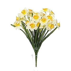 MARJON FlowersArtificial Narcissus Daffodil Bush 56