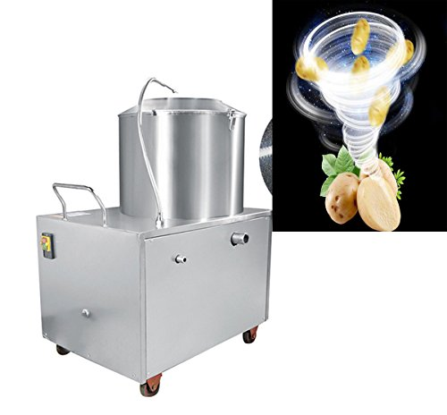 Vinmax Commercial Potato Peeler Automatic Sweet Potato Peeling &Cleaning machine 1500W 15-20KG by Vinmax