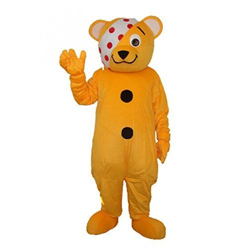 Yellow Bear Pudsey Mascot Costume Adult L Size