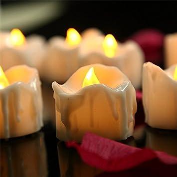 BestFire ゆらゆら LEDキャンドル 無煙蝋燭 室内電飾 癒し 雰囲気作り 電池式キャンドルライト