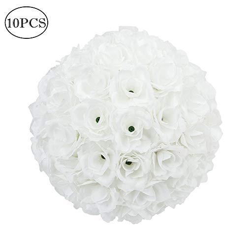 "10X Flower Balls Made Kissing Ball Pomander Floral Decor Centerpiece White 10/"""