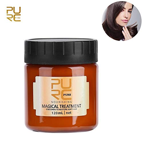 Hair Mask, 120ml Magical Hair Mask Supplement Nourishing Conditioning, Make Hairs Soft Smooth Repair Damage Professional Cream For Dry Hair ()