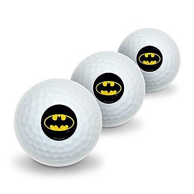 GRAPHICS & MORE Batman Classic Bat Shield Logo Novelty Golf Balls 3 Pack