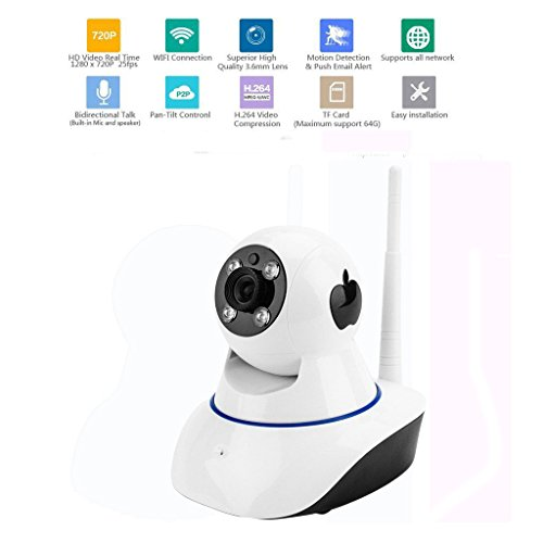 ATOWER 720P WiFi Wireless IP Security Surveillance Camera for Baby/Elder/Pet/Monitor with Night Vision, Home Camera by ATOWER