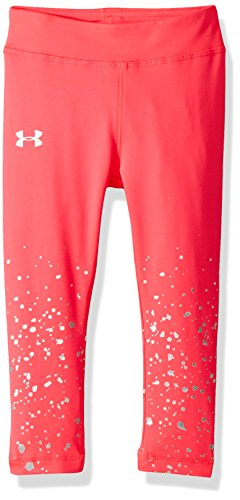 Under Armour Little Girls' Splatter Shimmer Legging, Penta Pink, 6