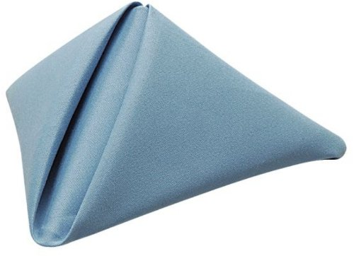 Phoenix 18 by 18-Inch Napkins, Wedgewood Blue, Package of 12