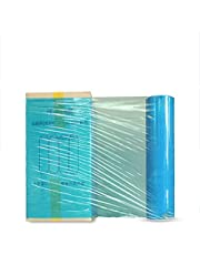 1 Roll of Shrink Pallet Stretch Wrap Cling 500mm Wide, Heavy Duty Packaging Cling Film for Pallet, Shrink Plastic for Moving House, Tear Resistant, 2.9kg (Color : 50cm*330m, Size : Sky Blue)