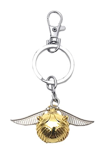 Superheroes Brand Harry Potter Keychain Key Ring Movies Books Logo Golden Snitch Gryffindor Slytherin Ravenclaw Hufflepuff Crest Theme Premium Quality Detailed Cosplay Jewelry Gift (Halloween Harry Potter Music)