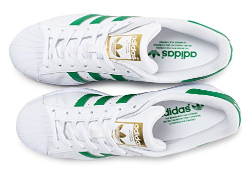 Adidas Mens Originals Wht Trainers Grn Lace 6 5 Up Foundation Casual Superstar O11q5w4r