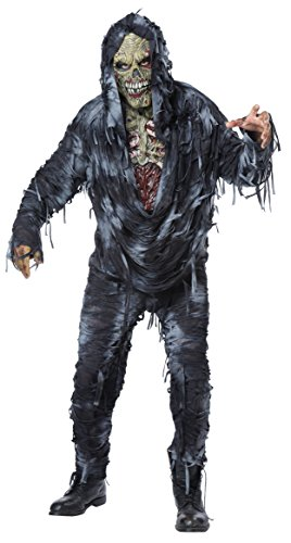 Zombie Costume Men (California Costumes Men's Rotten to the Core Costume, Black/Grey, Large)