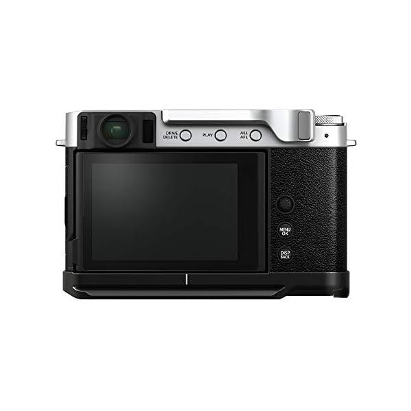 RetinaPix Fujifilm X-E4 Mirrorless Camera Body with Accessories - Metal Hand Grip (MHG-XE4) & Thumb Rest (TR-XE4) - Silver