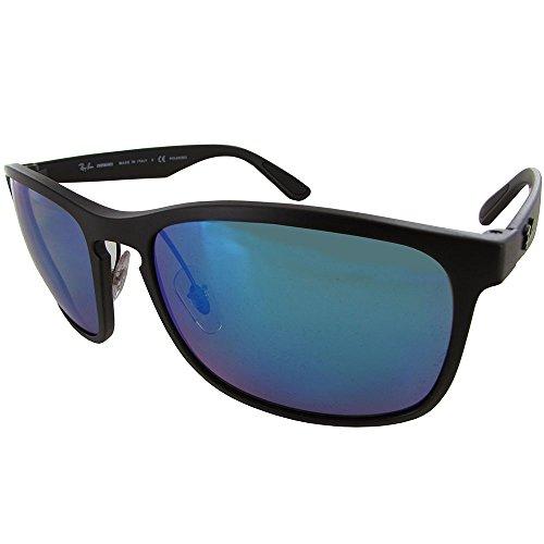 ray-ban-rb4264-chromance-lens-square-sunglasses-black-frame-blue-mirror-lens-601sa1-