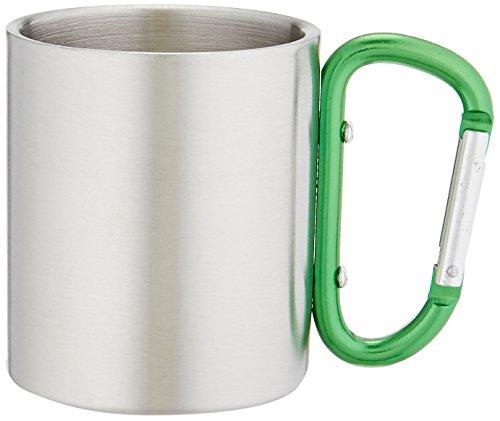 Outdoor RX Stainless Steel Carabiner Mug (Green, (Stainless Steel Carabiner Mug)