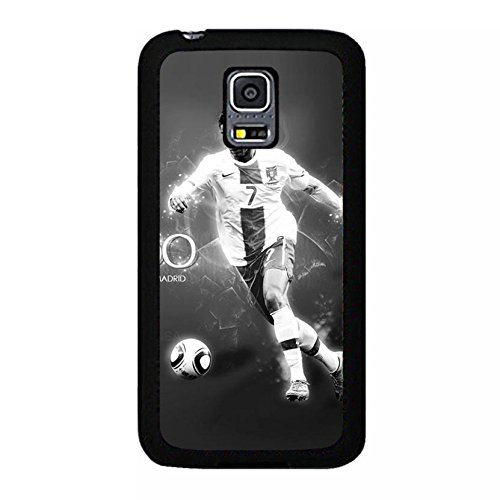 Fashionable Vintage Famous Soccer Cristiano Ronaldo Phone hülle Handyhülle Cover for Samsung Galaxy S5 Mini CR7 Real Madrid CF,Telefonkasten SchutzHülle
