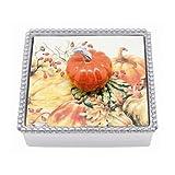 Mariposa Orange Pumpkin Beaded Napkin Box